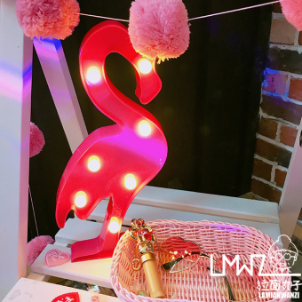 Flamingo Snnei camera props wall lamp night light string lights