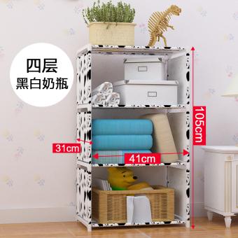 Bedroom Living Room Storage Rack Simple Bookshelf