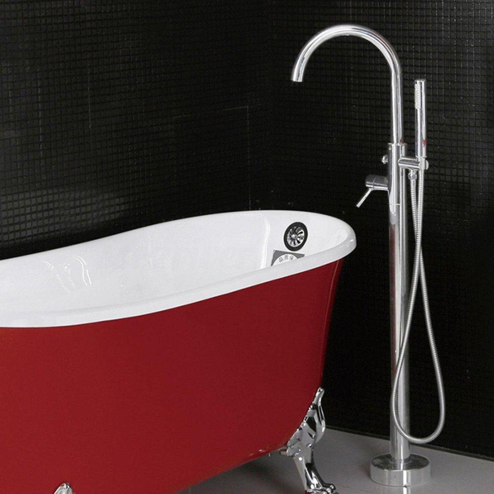 Floor Standing Bath Tub Faucet Bathroom Mixer Tap With Handheld ...