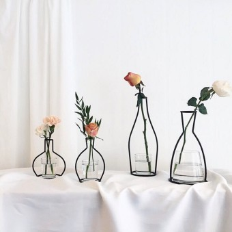 Flower room tree in| sweet moment| ins Korean style Nordic simplewrought iron dried flowers floral vase flower Decorative Products