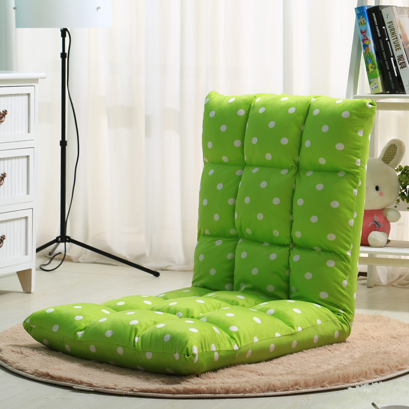 Foldable Floor Sofa Bed (Green) Small