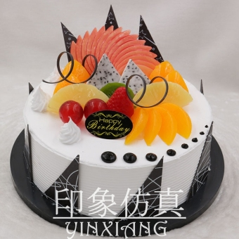 Fruit fake cream sample creative decoration cake Model