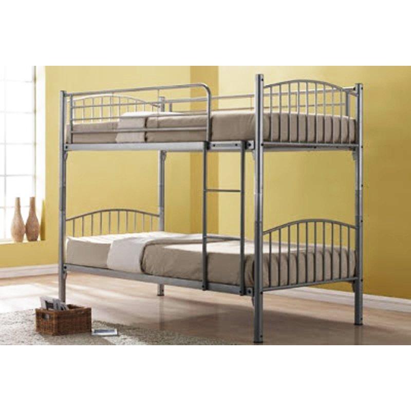 Furniture Living Metal Double Decker Bedframe (Silver)