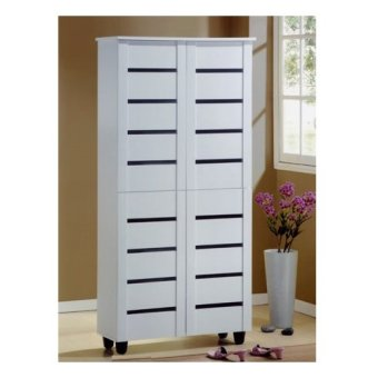 Furniture Living Tall Shoe Cabinet (White) Part 55