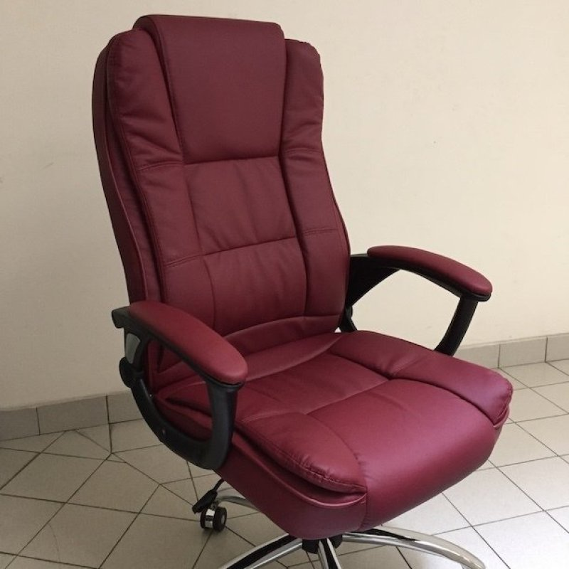 Genuine Leather Boss Chair 338 (Red) Singapore
