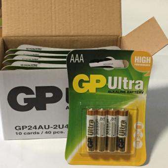 Harga GP 4AAA Ultra Alkaline Batteries 10 Cards (40pcs)