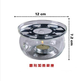 Heat-resistant glass flower pot teapot heating base TEA Tea candle temperature stove warm cup is insulation is cooked tea