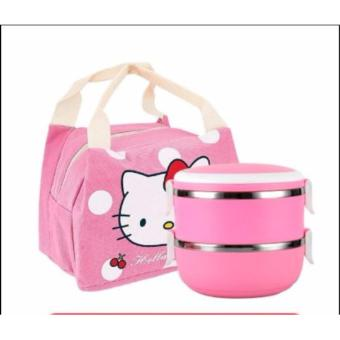 Harga Hello Kitty / Doraemon Japanese Lunch Box Bento with Lunch Bag (SG Stocks)