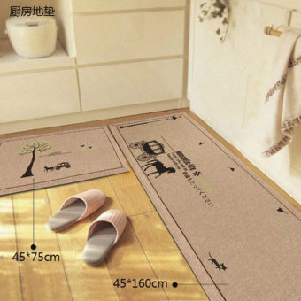 Home bedroom kitchen hall bathroom absorbent non-slip mat