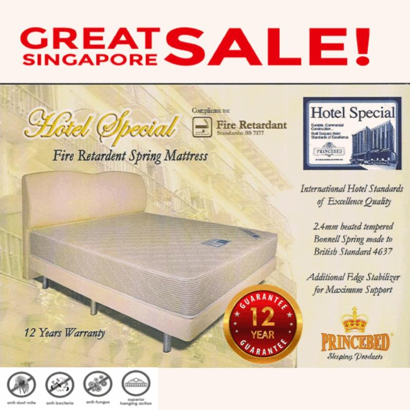 Hotel Special Fire Retardant Super Single 6 Inch Spring Mattress