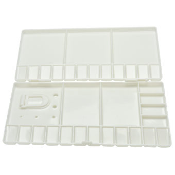 Art Paint Tray Artist Oil Watercolor Plastic Palette White 33 Grids L Size - intl