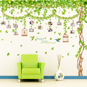 Harga Self adhesive wall stickers living room bedroom sofa backdrop wallpaper wall decoration creative tree photo collage