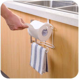 Harga Home home kitchen with a paper storage rack roll holder bathroom-free punch towel rack toilet paper rack