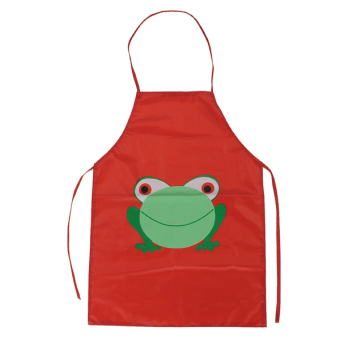 Harga Kids Children's Cartoon Frog Waterproof Apron Costume Painting Cooking Toddlers - Intl