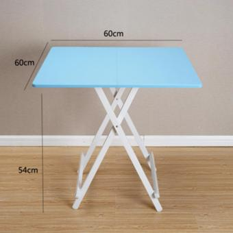 Harga Colorful Folding Portable Foldable Table - Sky Blue 60 x 54(h)cm