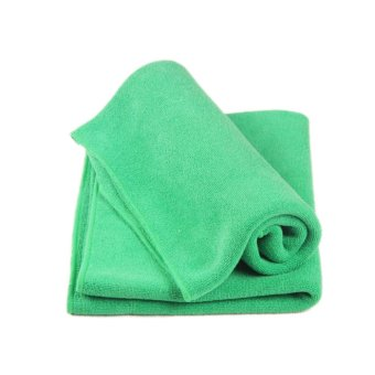 Harga Microfiber Absorbent Kitchen Soft Home Face Hair Clean Car Polishing Streak-Free Towel Cloth Green (Intl)