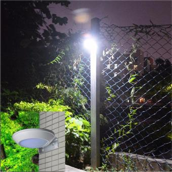 Harga 260LM Microwave Radar Motion Sensor LED Solar Light Waterproof 16LEDs Street Lamp Outdoor Path Wall Lamp Security Spot Lighting - intl