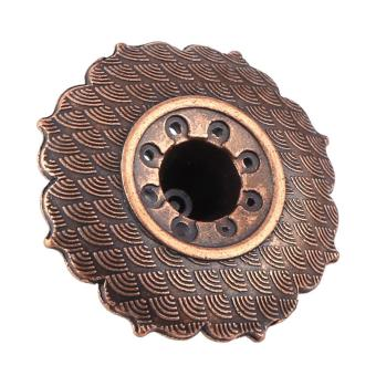 Harga 9 Holes Alloy Lotus Flower Incense Burner Holder Bronze - intl
