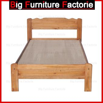 Harga BFF30-WB Single Size Wooden Bed (Natural)