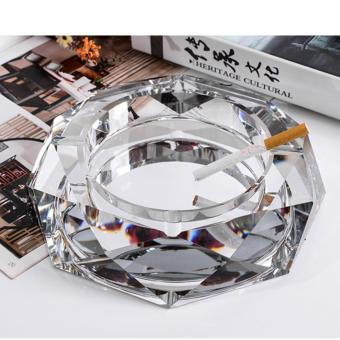 XYS COLLECTION Crystal Cigar Ashtray European Living Room Ash Tray Holder Cigarettes for Home Office Tabletop Decoration, Gift Ashtray, Smoker, (Sliver/Gold/Black) - intl