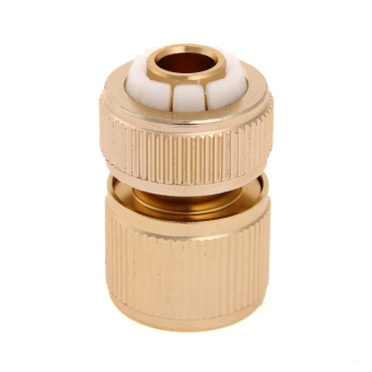 "Grandmise 1/2 "" Brass Auto Water Guide Quick Fit Female Hose Pipe Connector Hoselock Clips"