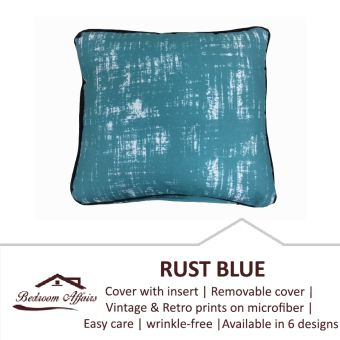 Harga RINCO BONINGTON Rust Blue Vintage Cushion with Insert