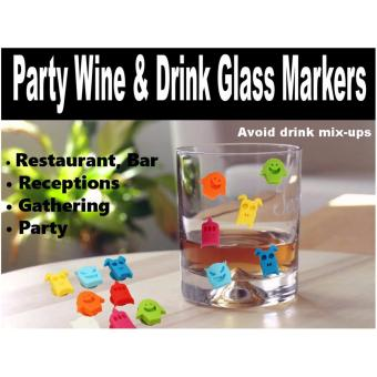 12 Pieces Silicone Wine Charms Drink Glass Markers