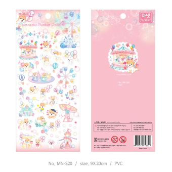 Harga Korea Manet diary hand account semi-transparent stickers PANDA Circus group. Alice. Flower and Cat. Fantasy World