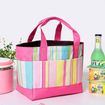 Harga Lime flower zipper new waterproof portable lunch bag with drawstring bag lunch bag picnic bag lunch bag meal package
