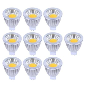 Harga 10pcs Ultra Bright Ultra Bright MR16 5W Natural White COB Spot Lights Bulbs - intl