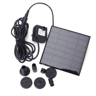 Harga Solar Power Water Pump Garden Fountain (Black)