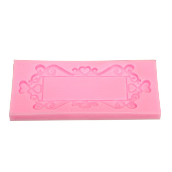 3D Mirror Frame Silicone Fondant Mould Cake Baking Mold