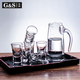 Harga Gold Shen Home Wine small glass a mouth cup Glass points wine is flagon Maotai spirits liquor cup suit