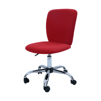 Harga Simple Modern Office Chair (Fabric-Red) (Free Delivery)