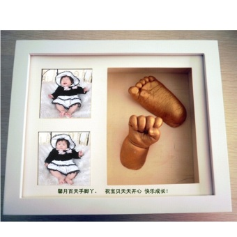 Harga DIY Baby Hands and Feet 3D Casting Kit (White Frame) - Baby Arts with Frame / Photo Picture Frame / Accessories / Toy / Memory Souvenir Present Gift Baby Shower / Sculpture / Christmas