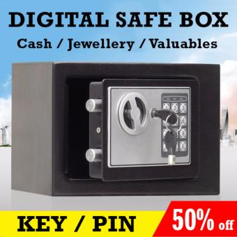 Harga Digital Safe Security Box - Portable Safe/Jewellery/Valuables Storage Box. Store Cash and Valuables