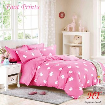 Harga 2017 Design *New Arrival *Bed Sheet Set *100% Polyester *Super-Single Size