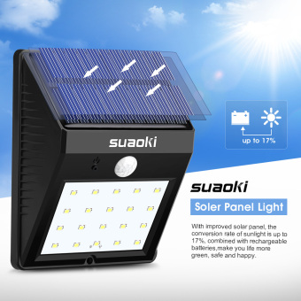 Harga Suaoki Solar Panel 800mA 20 LED Light(Black)