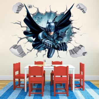 Harga 3D Iron Man Wall Stickers Bedroom Mural Cartoon Batman Poster Gifts Home Decoration - intl