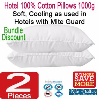 Harga Nile Valley's Hotel 100% Cotton Pillows with Mite Guard. 1000 grams