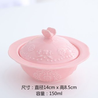 Harga Export ceramic creative bird's nest stew cup snack dessert soup stew tonic soup bowl with lid