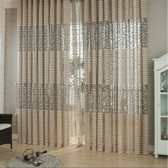 Harga Leaf Pattern Tulle Window Curtain