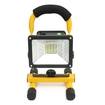 Harga 30W 24LED Portable Rechargeable Outdoor Camp Flood Light Spot Work Trouble Lamp - intl