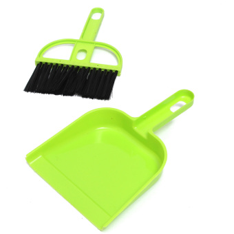 Harga Mini Plastic Dustpan And Brush Set Soft Cleaning Sweeper Hand Kitchen Dust Pan Green