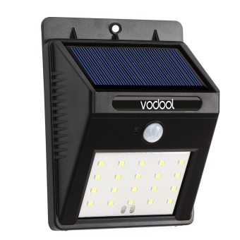 Harga VODOOL Solar Light 20 LED Lights (Black) - intl