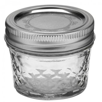 Harga Ball Mason 4oz Quilted Crystal Jelly Jar Set of 12 (Clear)
