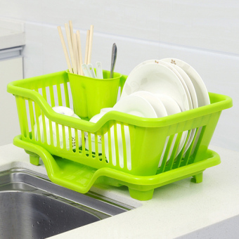 Harga Kitchen helper drain tableware dishes bowls chopsticks shelf