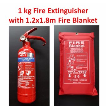 Harga Combo Set Fire Extinguisher 1 kg With Fire Blanket 120 cm x 180 cm