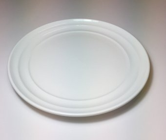 "Harga Moderne 10"" Dinner Plate with Modern Line, 5pcs (White)"