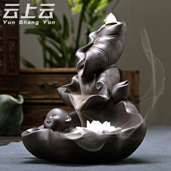 Cloud on the cloud back incense censer incense stove playful incense home Snnei incense sandalwood purple Ornaments